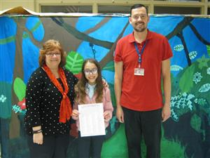 "J.J. Flynn 4th grade student selected as a finalist in the national ""Draw a Cover for Music K-8 Magazine"" contest!"
