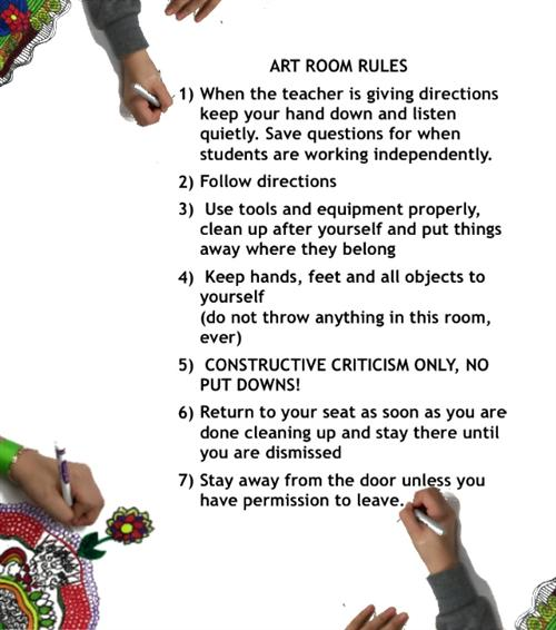Art Room Rules