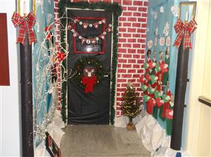 Congratulations to our winners of the Holiday door decorations