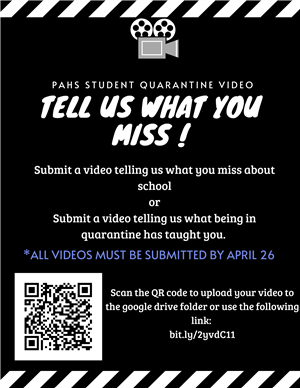 Student Video!  The Student Council wants to hear from you!