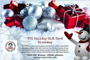 PTO Holiday Gift Card Giveaway (Click for more info)