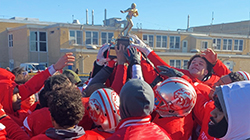 Perth Amboy Football Claims Thanksgiving Day Trophy