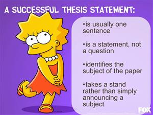 lisa thesis statement