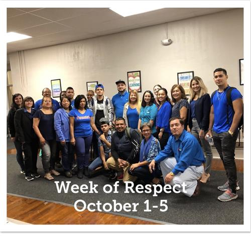 Wearing Blue to Show Respect for You