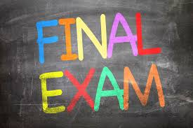 Important Information Regarding Final Exams!